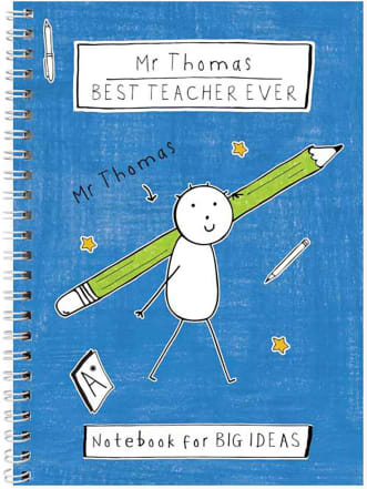 Personalised Purple Ronnie Teacher Notebook