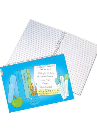 Personalised Teacher Notebook Horizontal Cover