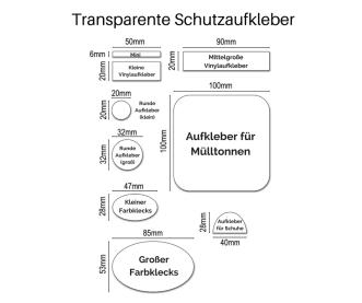 Transparente Schutzaufkleber (unbeschriftet)