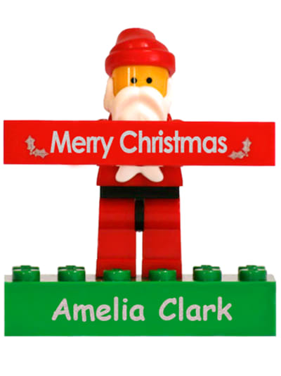 Santa Lego Bricks, Labels4kids