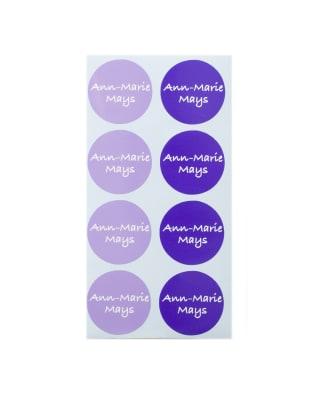 Etichette adesive grandi rotonde