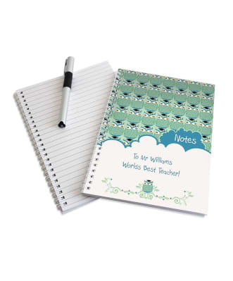 Personalised Owl Teacher Notebook