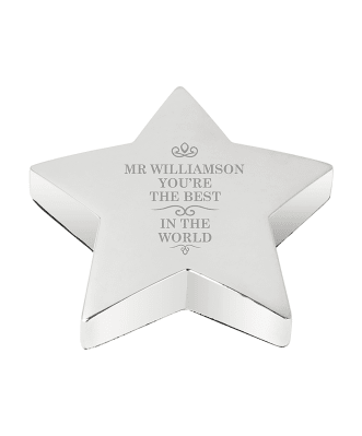 Personalised Best in the World Star Paperweight