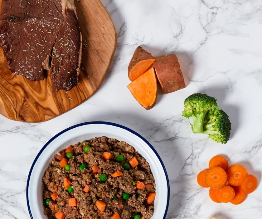 Fresh ingredients used in the Butternut Beef recipe