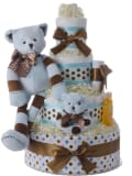 Ziggy the Bear Diaper Cake for Boys by Lil' Baby Cakes