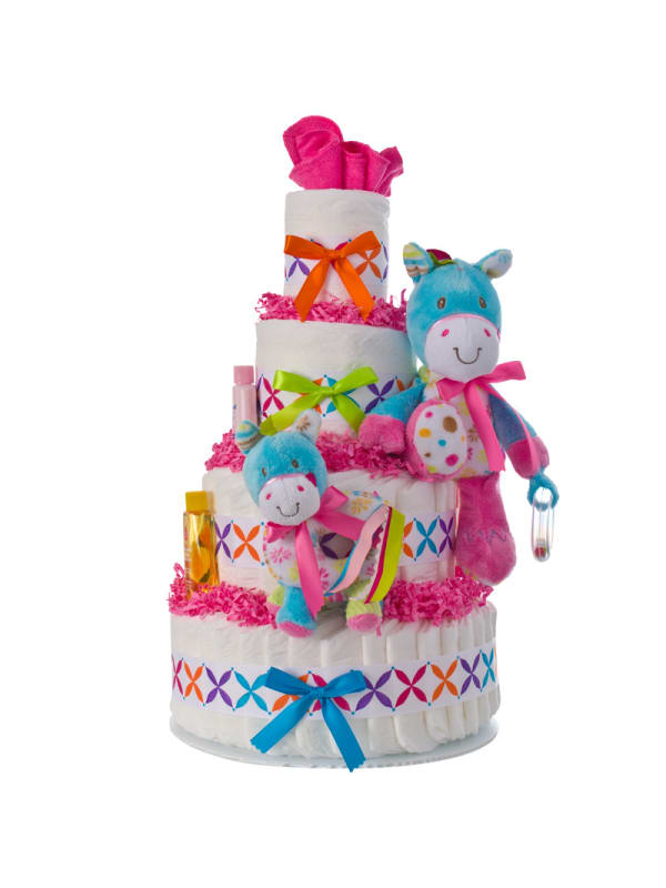 Activity Pony 4 Tier Diaper Cake