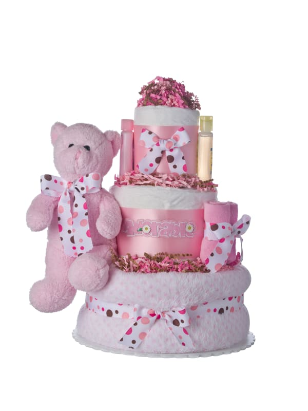 Adorable Girl 3 tier  Lil Baby Cake