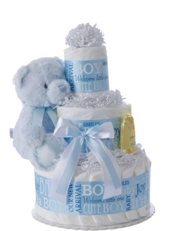 Baby Boy 3 Tier Diaper Cake