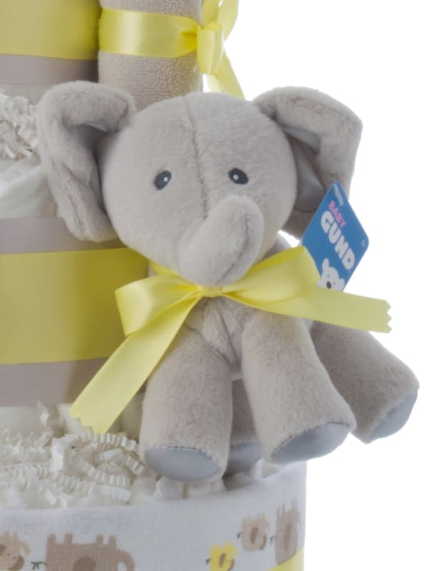 Lil' Baby Elephant Baby Shower Diaper Cake