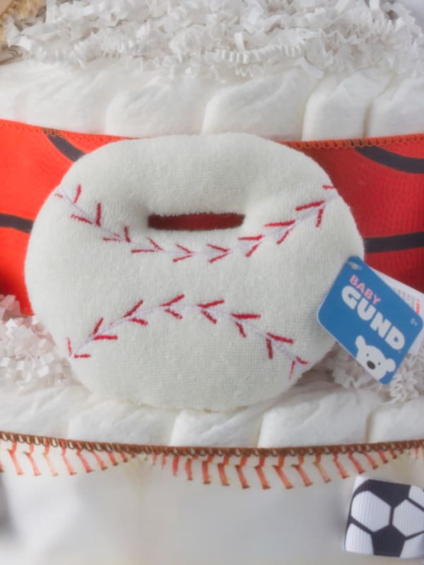 I Love Sports Baby Diaper Cake for Boys