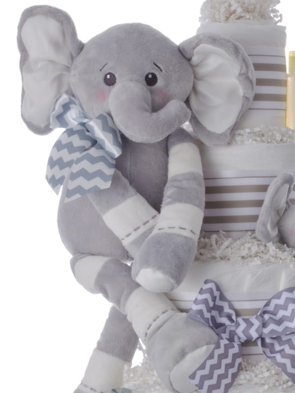 Ultimate Elephant Pampers 5 Tier Cake Neutral