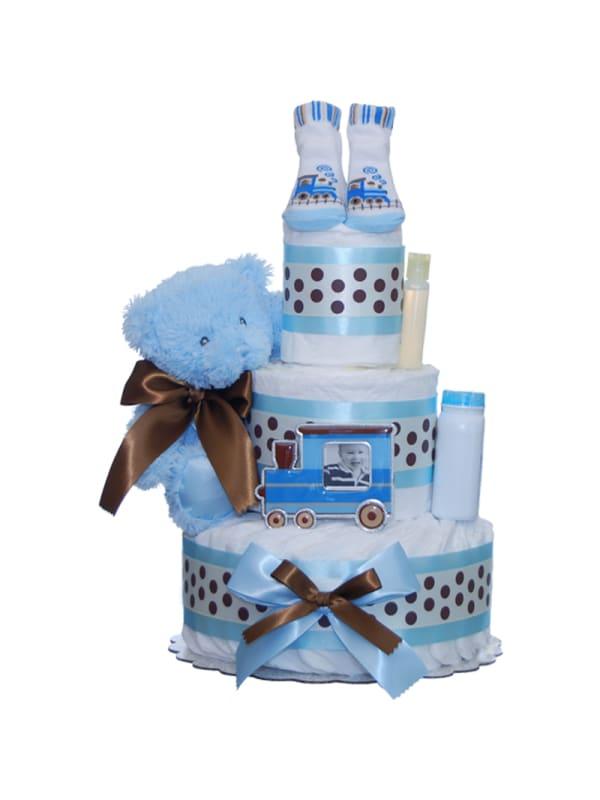 Our Lil' Choo Choo 3 Tier Diaper Cake