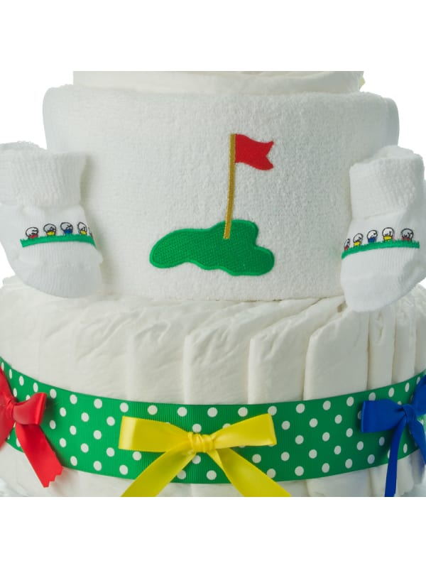 Lil Duck Golfer 3 Tier Diaper Cake