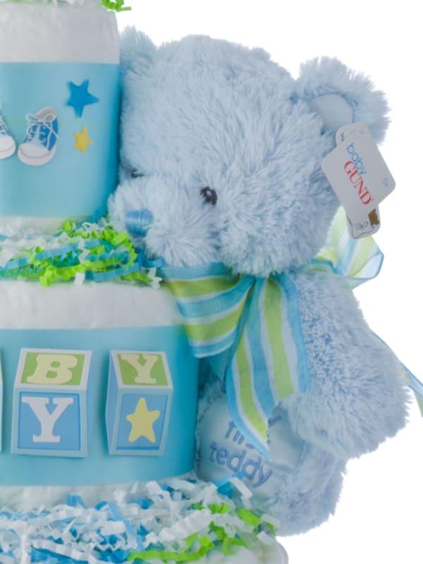 Baby Blocks Diaper Cake for Boys