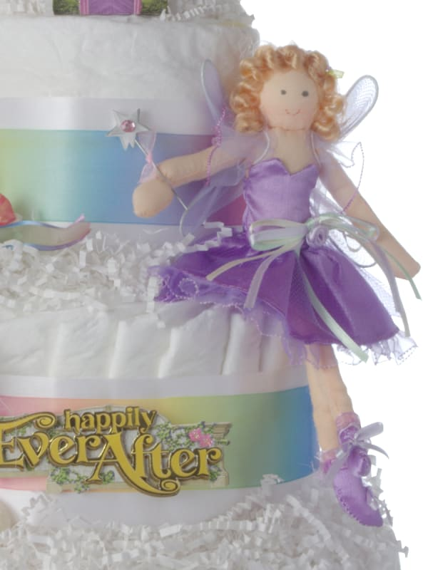 Happily Ever After Baby Diaper Cake