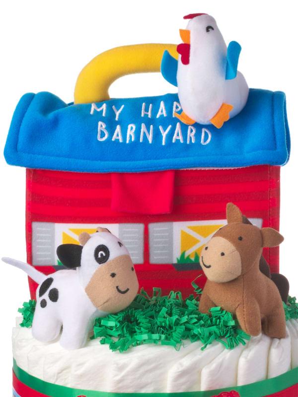 Happy Barnyard Neutral Diaper Cake