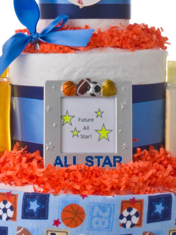 Lil' All Star Boys Baby Diaper Cake
