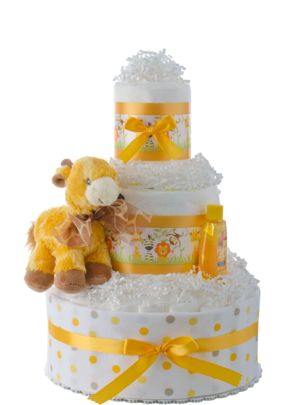Lil' Jungle Friends Diaper Cake