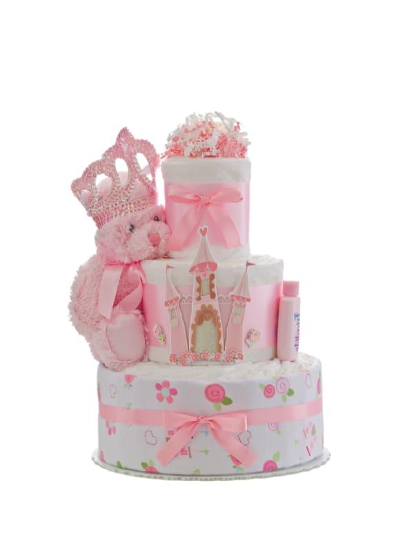 Our Lil' Princess Castle 3 Tier Diaper Cake