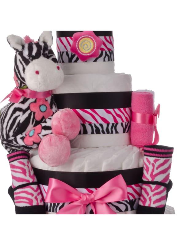 Lil Zebra 4 Tier Diaper Cake