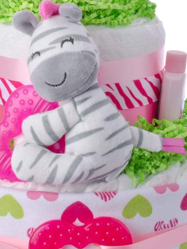 Lil' Zebra Diaper Cake for Girls