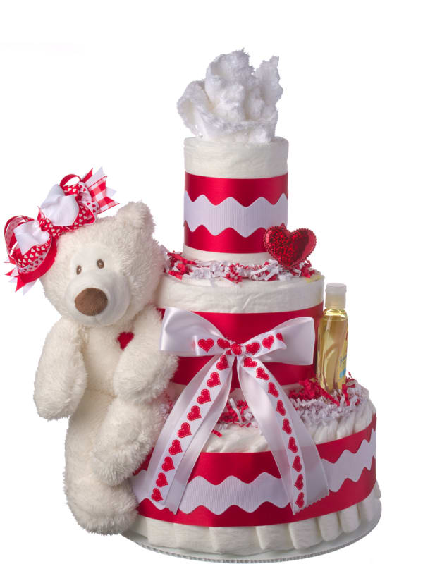 Love is in the Air Diaper Cake