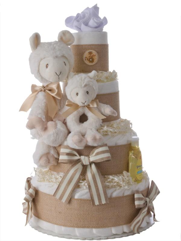 Lovin' Llama Neutral Diaper Cake
