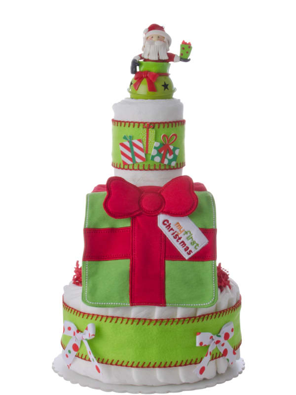 My First Christmas 3 Tier Diaper Cake
