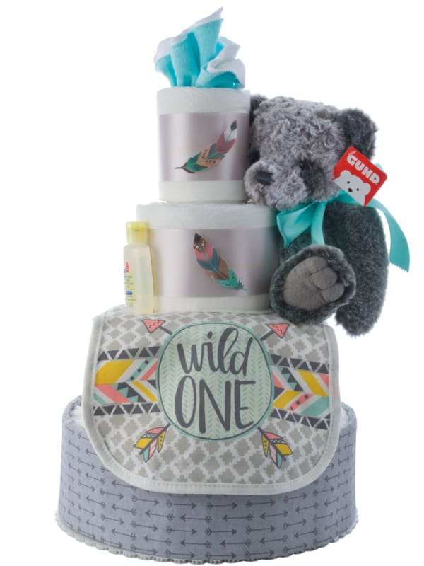 My Lil' Wild One Diaper Cake