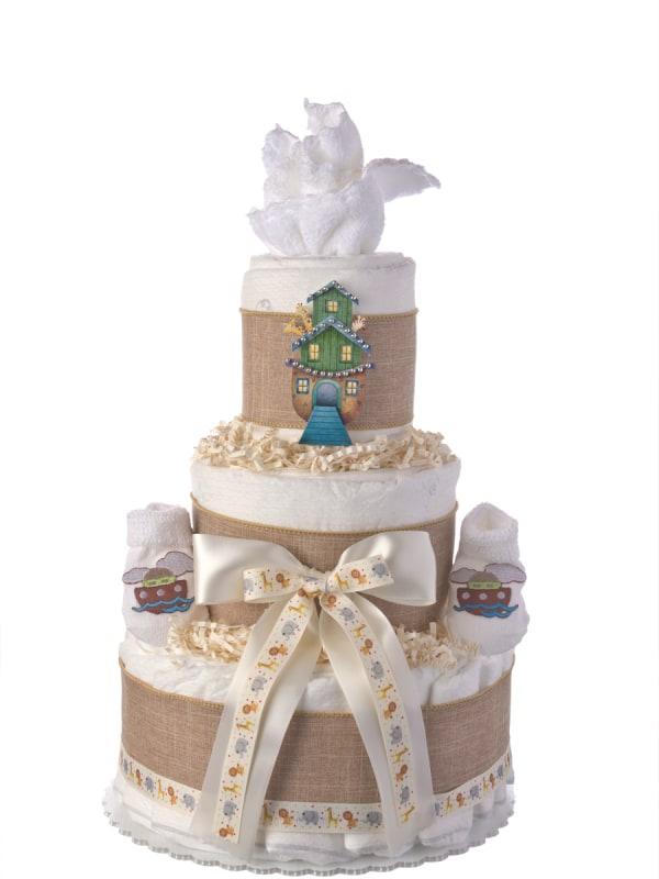 Lil' Noah's Ark Diaper Cake