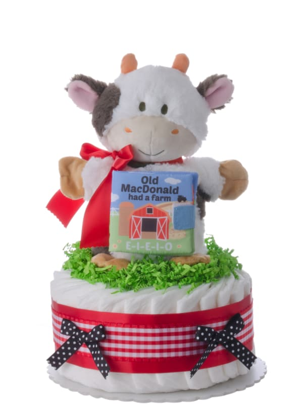 Old MacDonald Had a Farm Baby Diaper Cake
