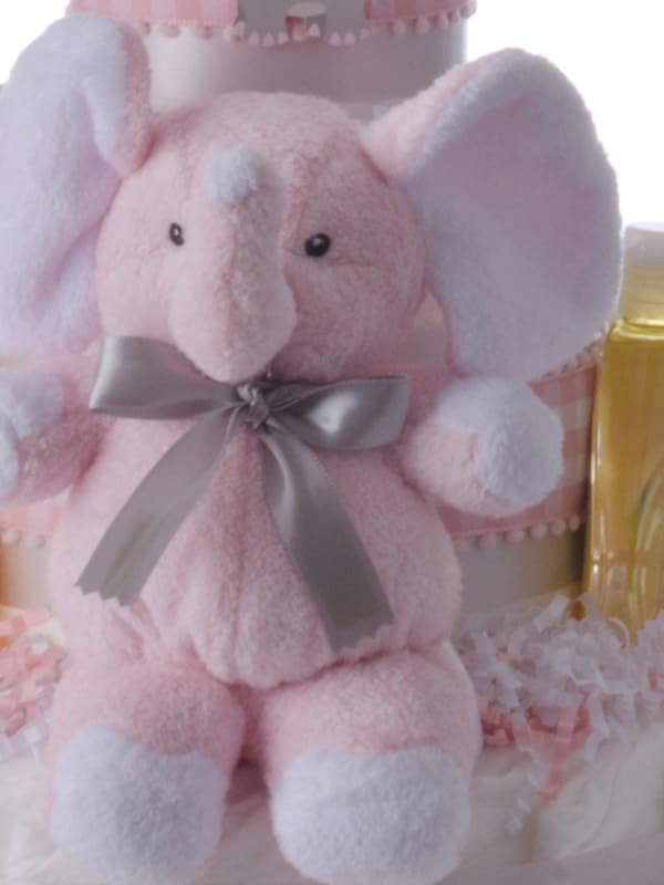 Lil' Pink Elephant 3 Tier Diaper Cake