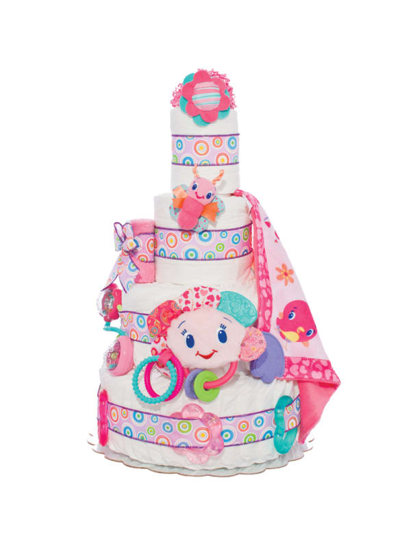 Fun Toys Pink 4 Tier Diaper Cake