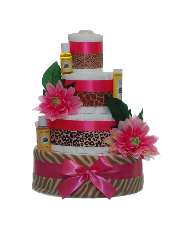 Queen Of The Jungle 4 Tier Diaper Cake