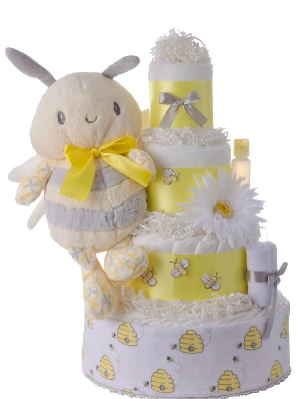 Sweet Bee 4 Tier Diaper Cake