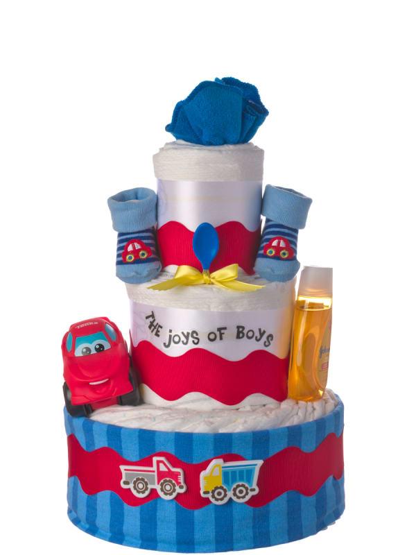 Joys of Boys Baby Diaper Cake
