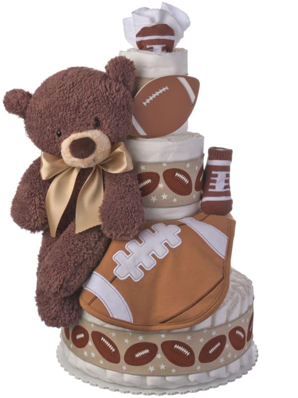 Let's Play Football Diaper Cake for Boys