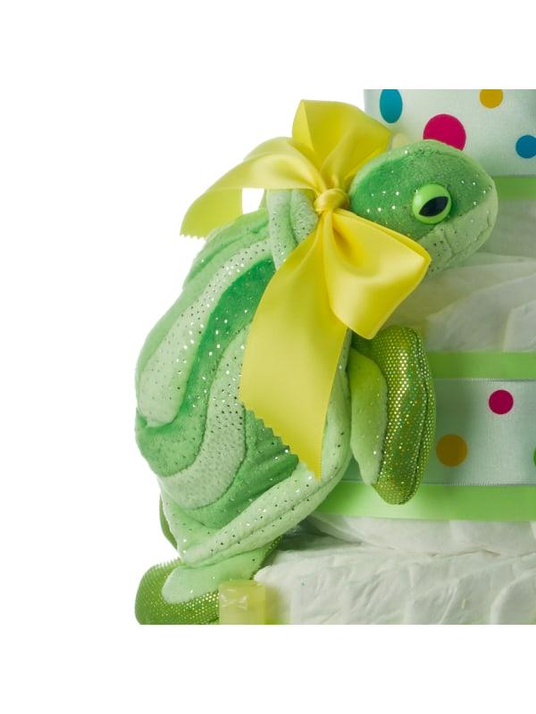 Twin Turtles 5 Tier Diaper Cake