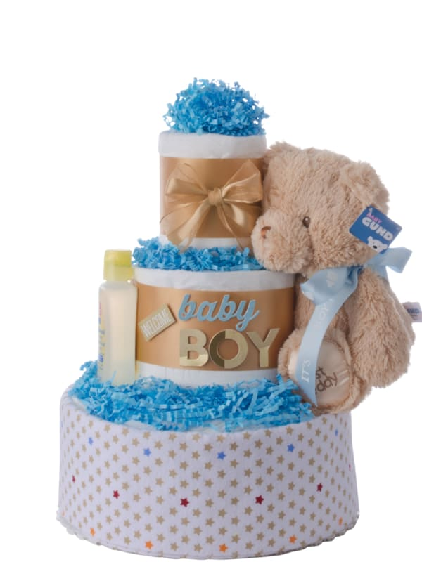 Welcome Baby Boy Diaper Cake