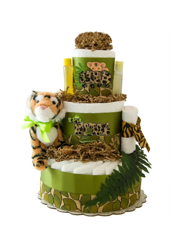 Wild Thing 3 Tier Diaper Cake