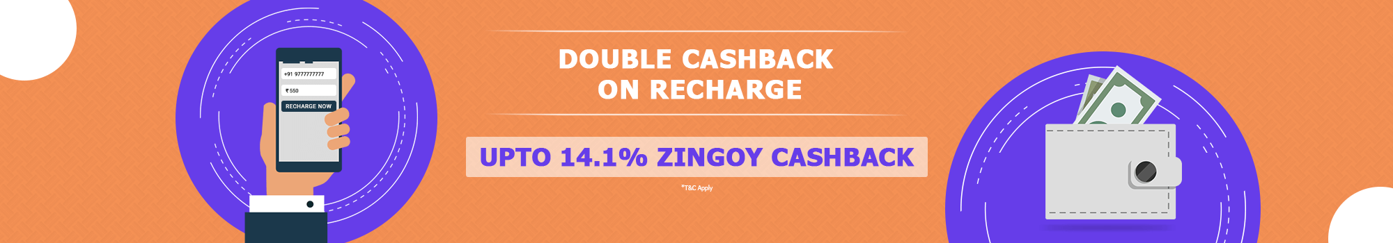 Double Cashback on Recharge