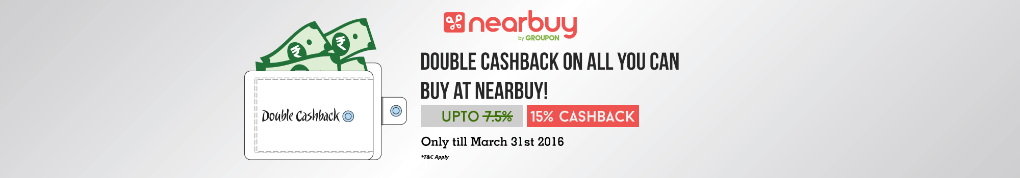 Nearbuy double cashback offer