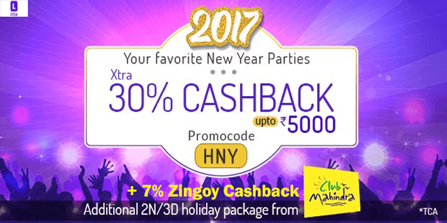 Little   extra 30  cashback on new year parties hny ejhee8