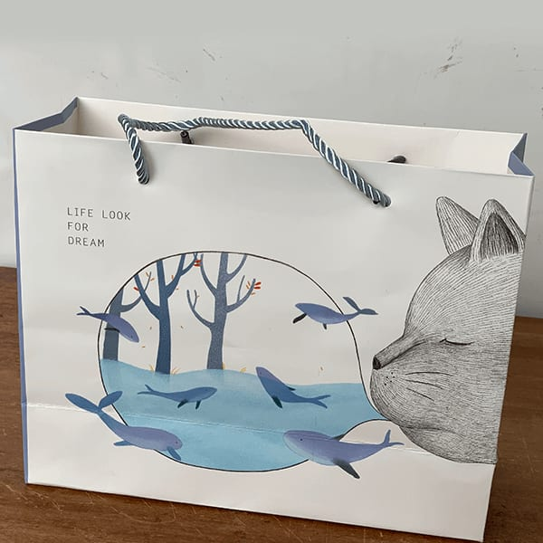 Cute Gift Paper Bag with Animal Theme (Multicolour) - Pack of 5