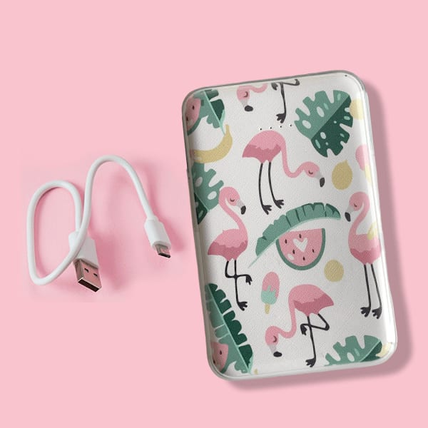 Flamingo Digital Printed 10000mAh Dual USB Power Bank