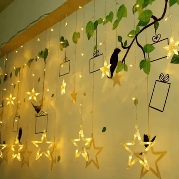 12 Stars 138 LED Curtain String Lights, Window Curtain Lights