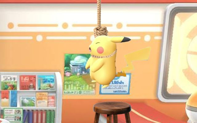PSA: If You Don't Pet Your Pokémon In Let's Go Pikachu And Eevee They Will Kill Themselves