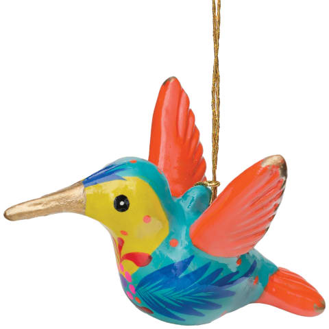 FCR103P Hummingbird Confetti Ceramic Ornament