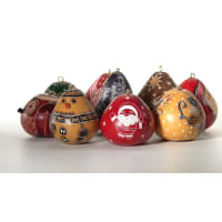 CRG055P Christmas Mini Mix Gourd Ornaments
