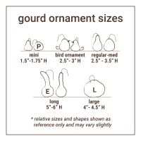 Kings - Mini Gourd Ornament